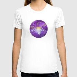 Purple Iris up close T-shirt