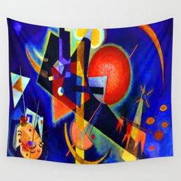 Kandinsky In Blue Wall Tapestry