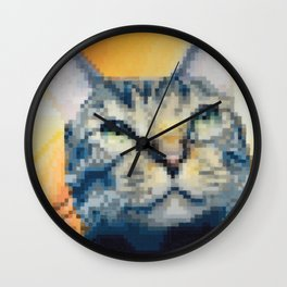 Cat.jpeg Pixel Cat Wall Clock