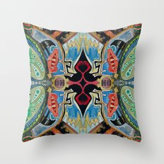 hearts and monsters Throw Pillow