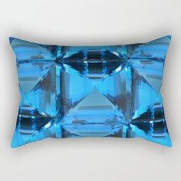 BLUE CRYSTAL GEMS PATTERN Rectangular Pillow