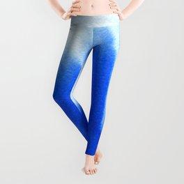 Blue ocean watercolor texture Leggings