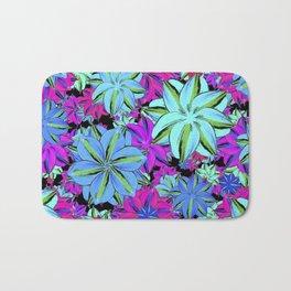Vibrant Floral Collage Bath Mat