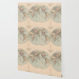 Vintage Map of The World (1873) Wallpaper
