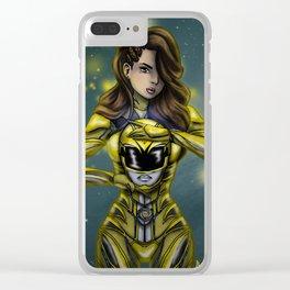 Trini / Yellow Ranger Clear iPhone Case