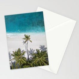 Coconut Trees Near Sea Stationery Cards