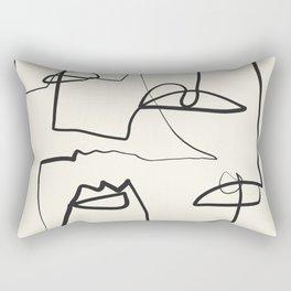 Abstract line art 12 Rectangular Pillow