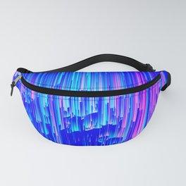 Neon Rain - A Digital Abstract Fanny Pack