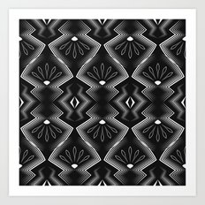 Art Deco . Black and white pattern .