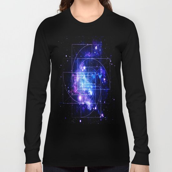 Galaxy sacred geometry Long Sleeve T-shirt