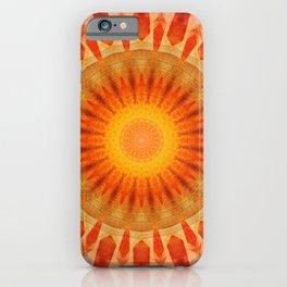 Mandala sunset iPhone Case