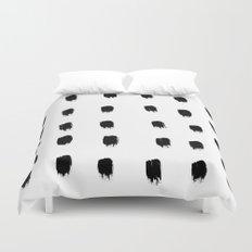 Jacques Pattern - Pure White Duvet Cover