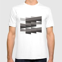 Aronde Pattern #02 Mens Fitted Tee White MEDIUM