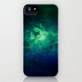 Green Nebula Space iPhone Case