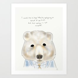 spicer bear Art Print