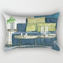 Watercolor_Interior Design_3 Rectangular Pillow