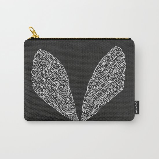 White Cicada Wings Carry-All Pouch