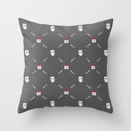 Horror Movie Pattern Throw Pillow