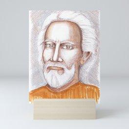 Guru Swami Sri Yukteswar Giri portrait Mini Art Print