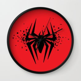 Square Heroes - Spider Wall Clock