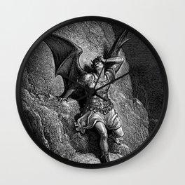 Gustave Dore - Paradise Lost Satan Profile Wall Clock