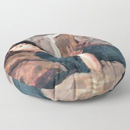 12,000pixel-500dpi - Isaac Lazarus Israels - Reading Woman On A Couch - Digital Remastered Edition Floor Pillow