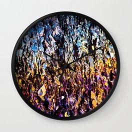 Iridiscent Crystal Wall Clock