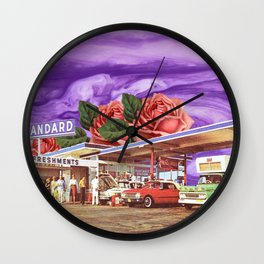 QUEEN OF THE GAS STATION Wall Clock