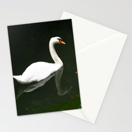 The Swan by Lika Ramati Stationery Cards