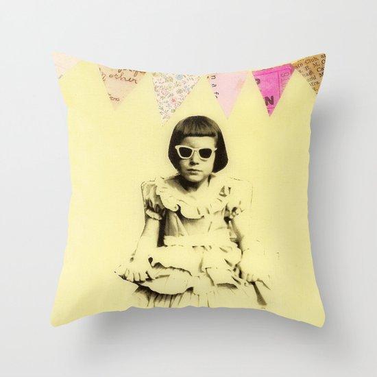 """""""Partially Amused"""" Throw Pillow"""