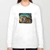 jaguar Long Sleeve T-shirts featuring Jaguar by Adamzworld