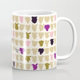 My human is an artist - purple Coffee Mug
