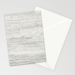 White Gray Marble Stationery Cards