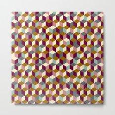 Cubic Pattern Metal Print