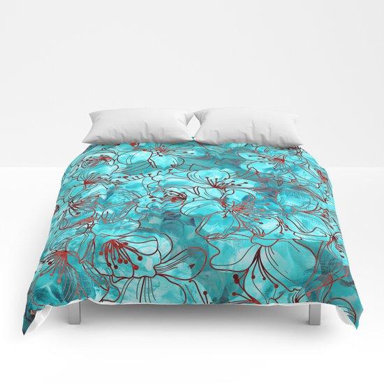 Little Blue Flowers Comforters