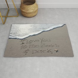 I love you to the Beach and back Rug