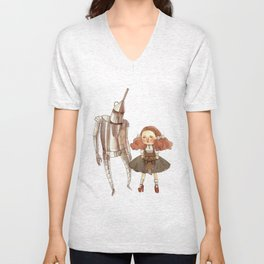 Dorothy and the Tin Man Unisex V-Neck