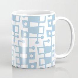 Mid Century Modern Abstract 213 Pale Blue Coffee Mug