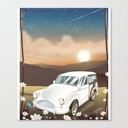 Vintage Car in the sunset. Canvas Print