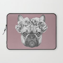 Pink Frenchie Laptop Sleeve