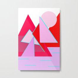 Hello Mountains - Flowering Slopes Metal Print