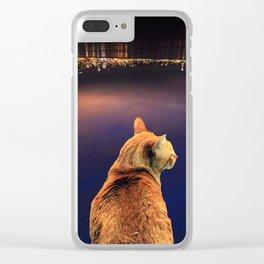 Cat City Clear iPhone Case