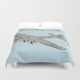 Boeing B-17 Flying Fortress airplane Duvet Cover