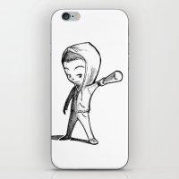 stiles stilinski iPhone & iPod Skins featuring Stiles Stilinski Team Human by aredblush