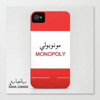 iphone 5 case Canvas Prints featuring Monopoly iPhone case by ranajubara