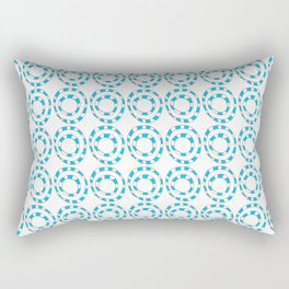 Circle and abstraction 8- blue abstract,geometric,geometrical,circle,sphere Rectangular Pillow