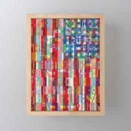 American Flags Of The World 2 Framed Mini Art Print