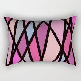 Pink Diagonals Rectangular Pillow