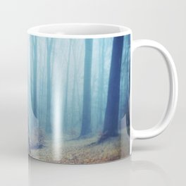 Silent Sadness - Fall Forest in Fog Coffee Mug