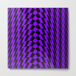 Purple checkered streak Metal Print